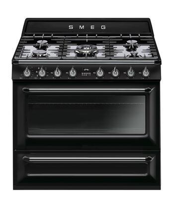 Victoria line cooker by SMEG black color
