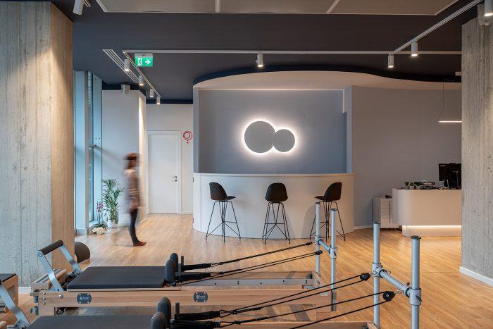 Core pilates & joga studio, bar and reception area