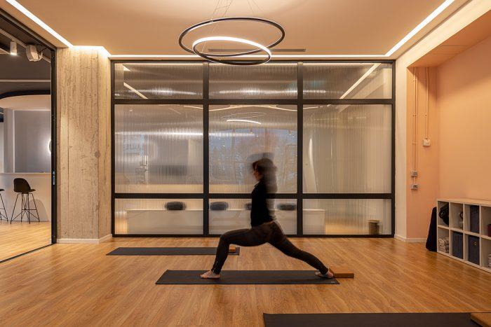 Yoga room at core piltes studio